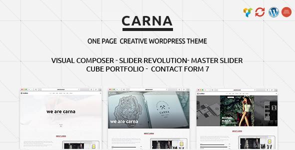 Wordpress Kreativ Template Carna | Responsive Multi-Purpose WordPress Theme