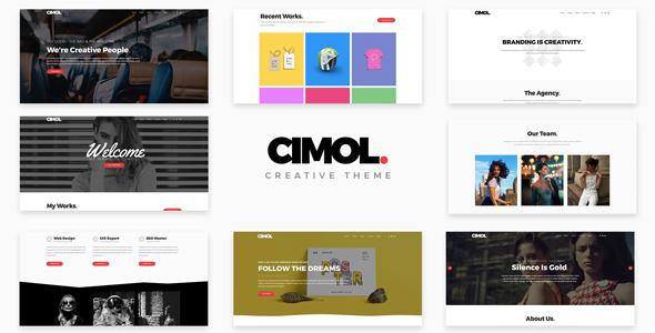 Wordpress Kreativ Template Cimol - Responsive One Page & Multi Page Portfolio Theme