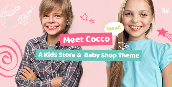 Wordpress Shop Template Cocco - Kids Store and Baby Shop Theme