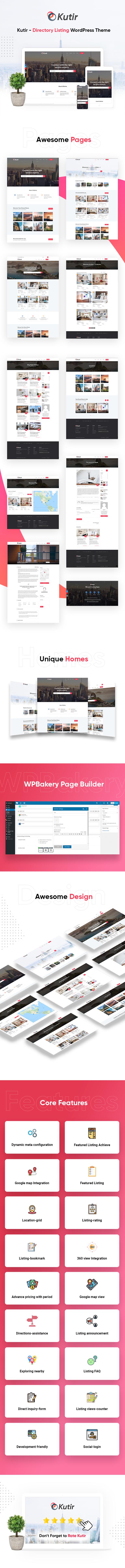 Kutir - Directory Listing WordPress Vorlage - 1