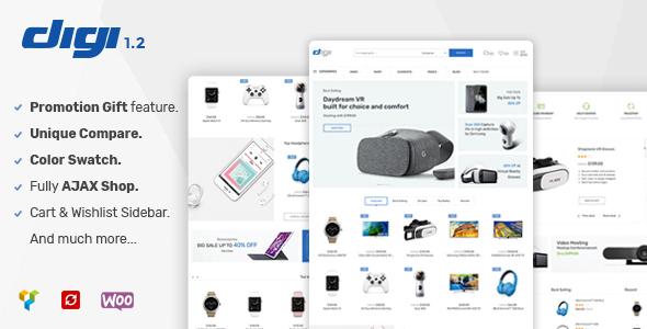 Wordpress Shop Template Digi - Electronics Store WooCommerce Theme