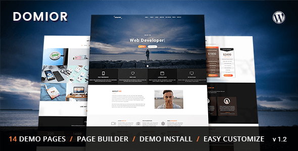 Wordpress Kreativ Template Domior - Creative Personal Portfolio WordPress Theme