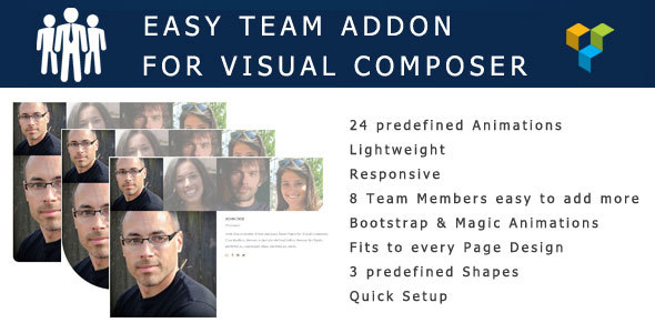 Wordpress Add-On Plugin Easy Team Visual Composer Addon