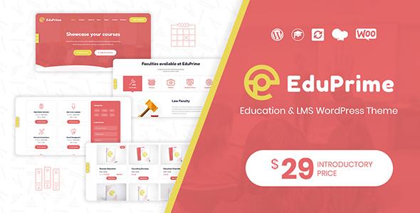 Wordpress BILDUNG Template EduPrime - Education & LMS WordPress Theme