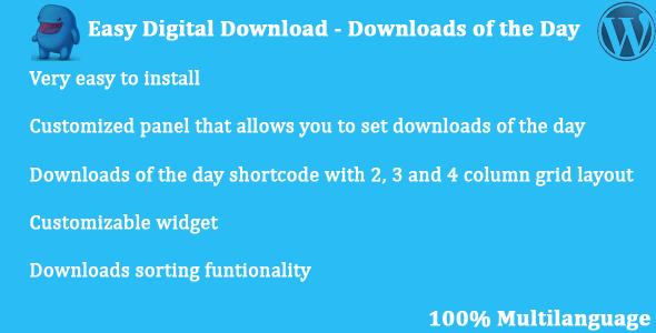 Wordpress E-Commerce Plugin Easy Digital Downloads - Downloads of the Day