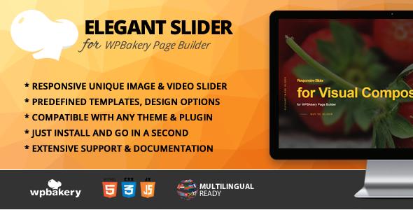 Wordpress Add-On Plugin Elegant Slider Addon for WPBakery Page Builder (formerly Visual Composer)
