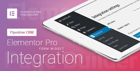 Wordpress Formular Plugin Elementor Pro Form Widget - Pipedrive CRM - Integration