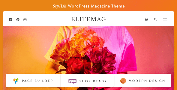 Wordpress Blog Template Elitemag - Stylish WordPress Blog and Magazine Theme