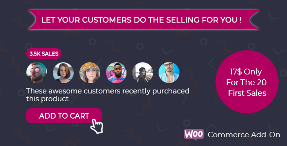 Wordpress E-Commerce Plugin Faceproof - Boost Woocommerce Sales Instantly