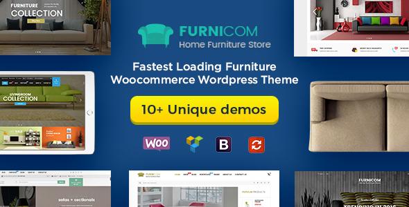 Wordpress Shop Template Furnicom - Furniture Store & Interior Design WordPress WooCommerce Theme (10+ Homepages Ready)