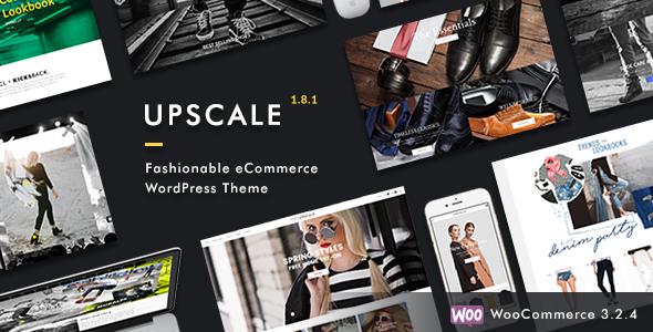 Wordpress Shop Template Upscale - Fashionable eCommerce WordPress Theme