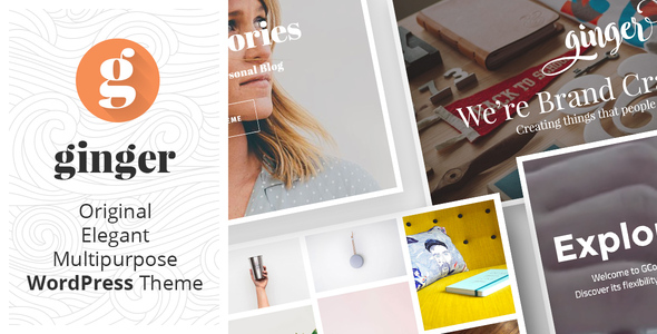 Wordpress Kreativ Template Ginger - Original Multipurpose WordPress Theme