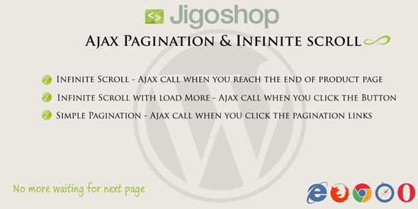 Wordpress E-Commerce Plugin Jigoshop   Ajax Pagination & Infinite scroll
