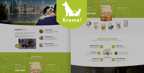 Wordpress Shop Template Kreme - Pet & Shop