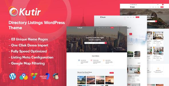 Wordpress Directory Template Kutir - Directory Listing WordPress Theme