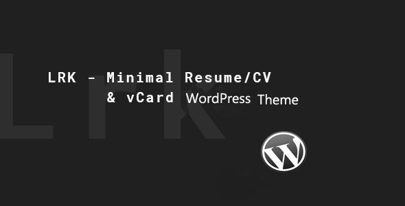 Wordpress Kreativ Template LRK - Creative vCard WordPress Theme