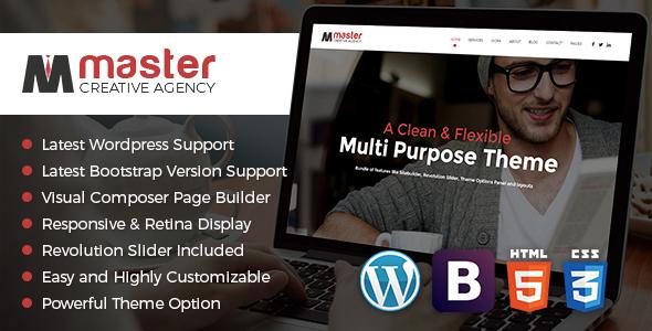 Wordpress Kreativ Template Master Creator - Minimal WordPress Theme