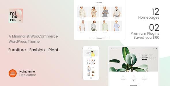 Wordpress Shop Template Minera - Minimalist WooCommerce WordPress Theme