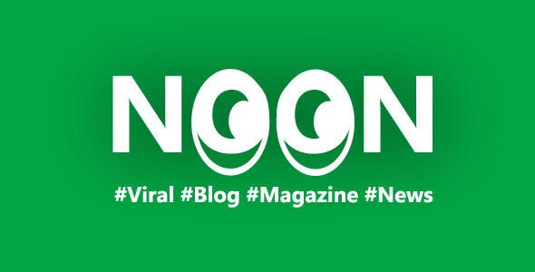 Wordpress Blog Template Noon - Crisply Made Ad Friendly WordPress Magazine Theme