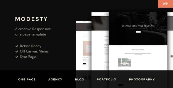 Wordpress Corporate Template Modesty - MultiPurpose One Page WordPress Theme
