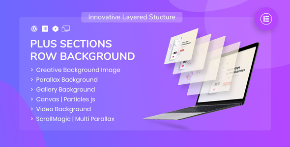 Wordpress Add-On Plugin PlusSections - Ultimate Parallax | Video | Particles Row Background for Elementor