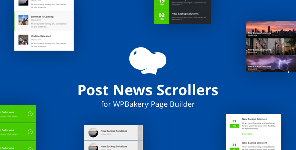 Wordpress Add-On Plugin Post News Scrollers for WPBakery Page Builder (Visual Composer)