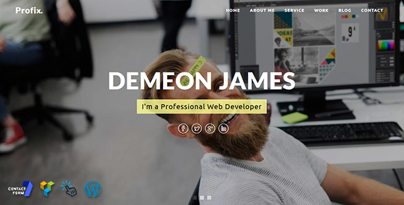 Wordpress Kreativ Template Profix - Personal Portfolio WordPress Theme