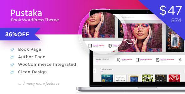 Wordpress Shop Template Pustaka - WooCommerce Theme For Book Store