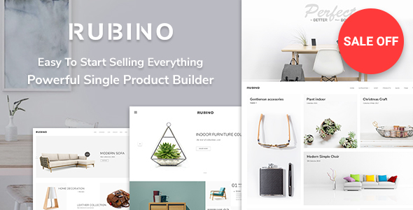 Wordpress Shop Template Rubino - Minimal & Creative WooCommerce Theme