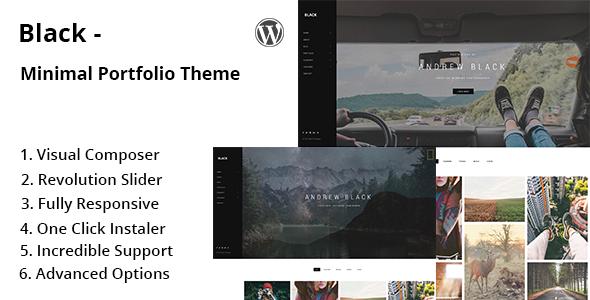Wordpress Kreativ Template Black - Minimal Portfolio WordPress Theme