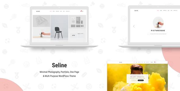 Wordpress Kreativ Template Seline - Creative Photography & Portfolio WordPress Theme
