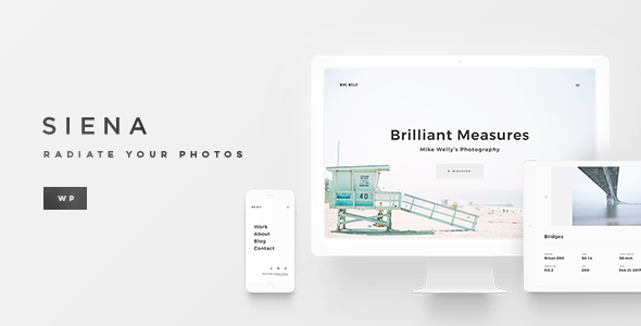 Wordpress Kreativ Template Siena - Aesthetic Photography Portfolio Theme for WordPress