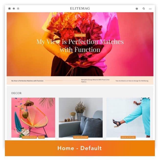 Elitemag - Stilvolles WordPress Blog und Magazine Template - 1
