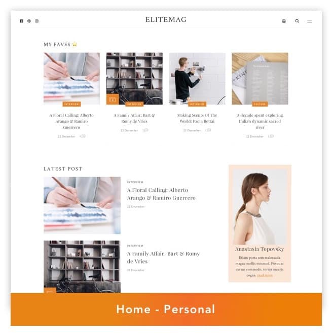 Elitemag - Stilvolles WordPress Blog und Magazine Template - 3