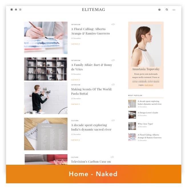 Elitemag - Stilvolles WordPress Blog und Magazine Template - 4