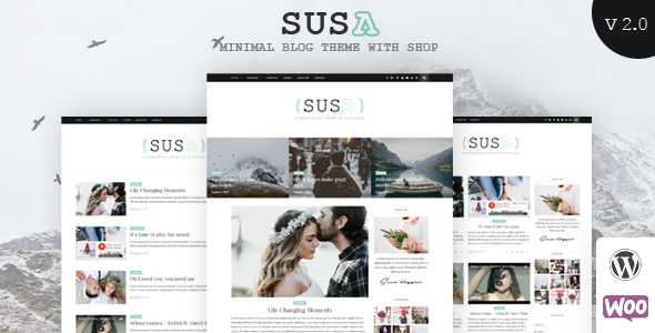 Wordpress Blog Template Susa - Responsive WordPress Blog Theme