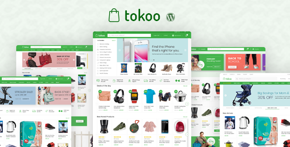 Wordpress Shop Template Tokoo - Electronics Store WooCommerce Theme for Affiliates, Dropship and Multi-vendor Websites