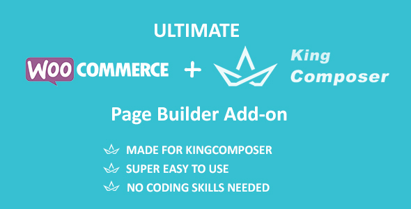 Wordpress E-Commerce Plugin Ultimate Woocommerce Page Templates Builder | KingComposer add-on