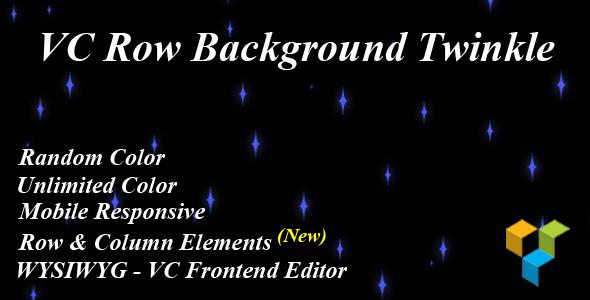 Wordpress Add-On Plugin VC Row Background Twinkle