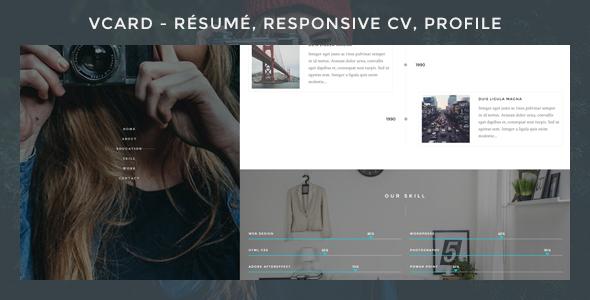 Wordpress Kreativ Template Vcard - Responsive CV WordPress Theme