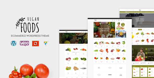 Wordpress Shop Template Vegan Food - Organic Store - Farm Responsive Woocommerce WordPress Theme