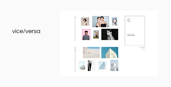 Wordpress Kreativ Template Viceversa - Minimal Photography and Portfolio WordPress Theme