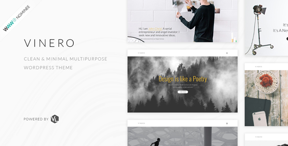 Wordpress Shop Template Vinero - Creative MultiPurpose WordPress Theme