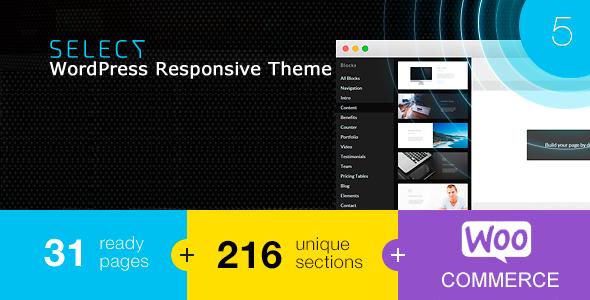 Wordpress Corporate Template Select - Responsive Landing Page WordPress Theme