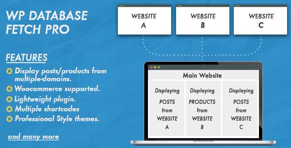 Wordpress E-Commerce Plugin WP Database Fetch Pro