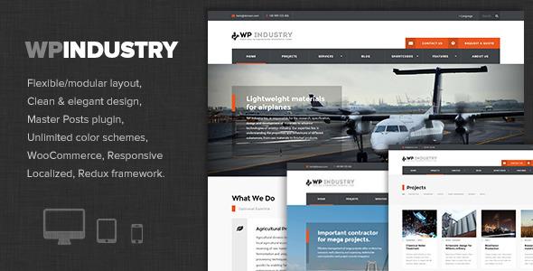 Wordpress Corporate Template WP Industry - Industrial & Engineering WP theme