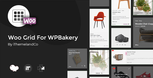 Wordpress Add-On Plugin Woo Grid For WPBakery Page Builder (Visual Composer)