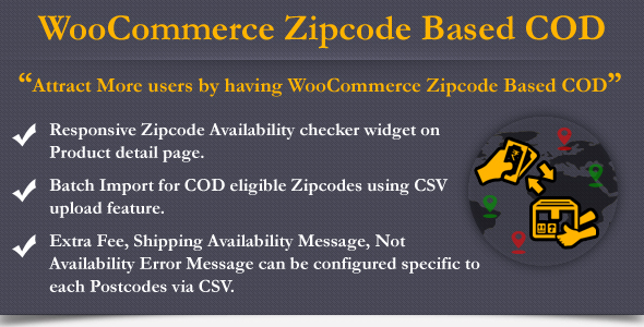 Wordpress E-Commerce Plugin WooCommerce Zipcode Based COD