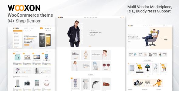 Wordpress Shop Template Wooxon - WooCommerce WordPress Theme