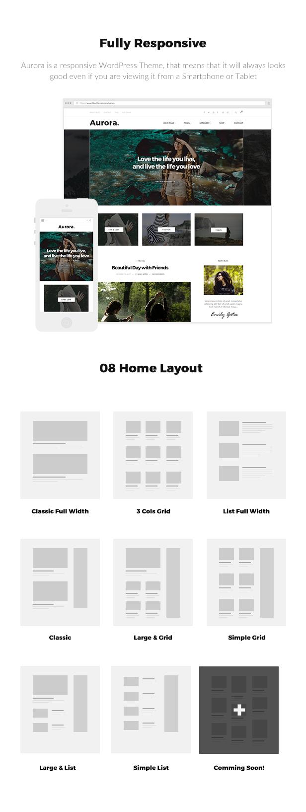 Aurora - Lifestyle Blog und Shop WordPress Template - 1